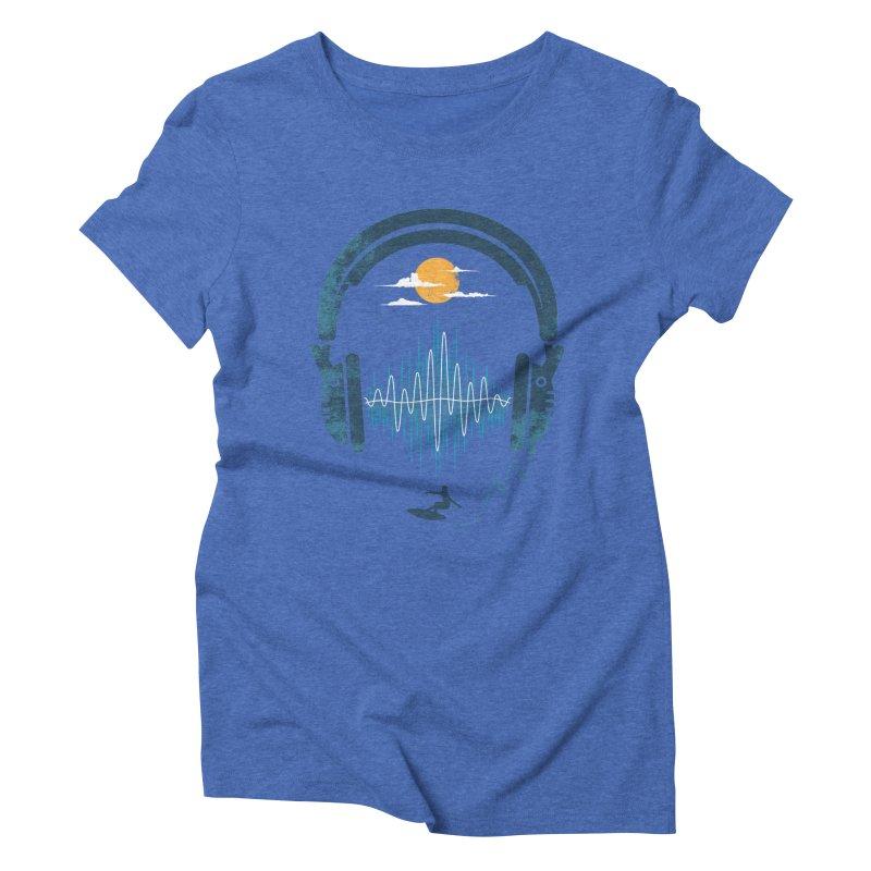 Summer Waves Women's Triblend T-shirt by Steven Toang