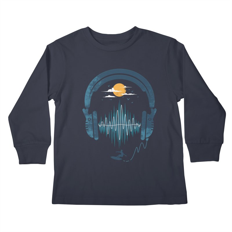 Summer Waves Kids Longsleeve T-Shirt by Steven Toang