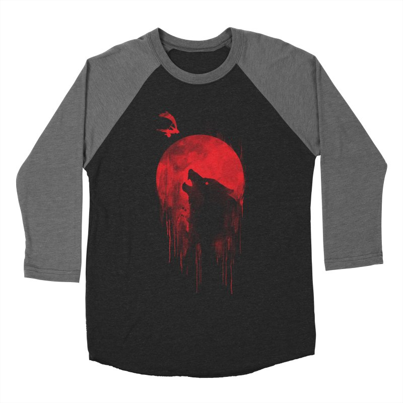 Wolf Slayer Men's Baseball Triblend T-Shirt by Steven Toang