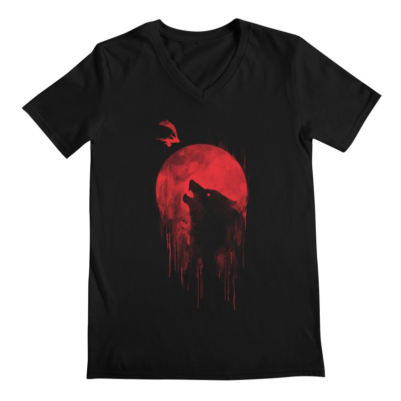 Wolf Slayer Men's V-Neck by Steven Toang