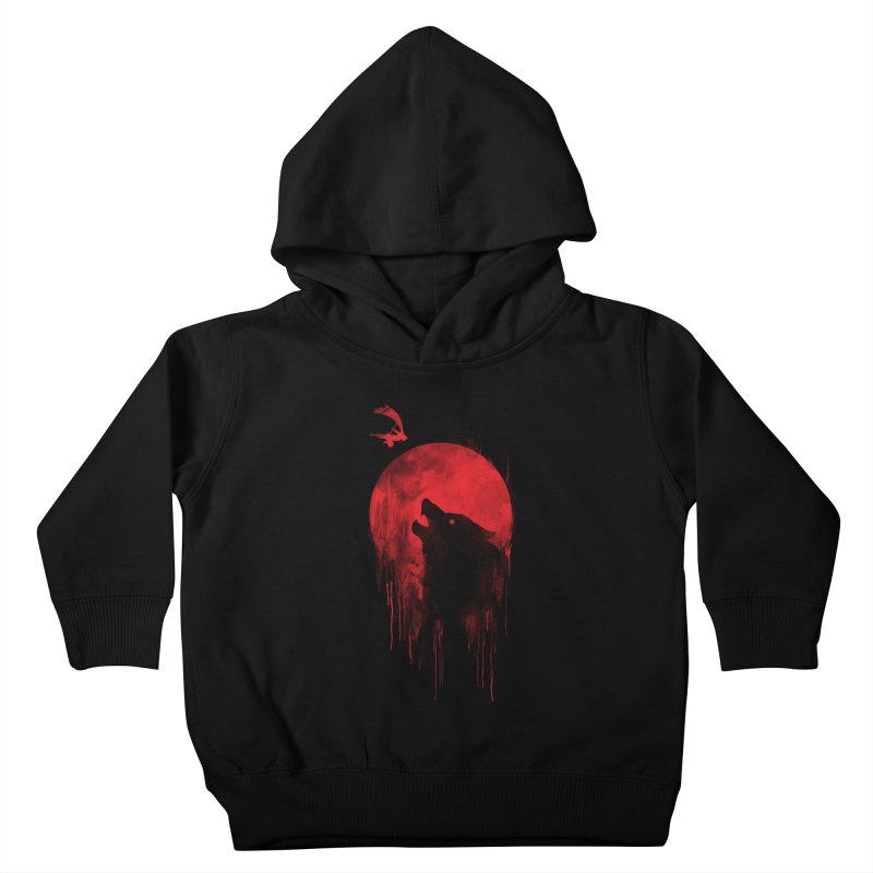 Wolf Slayer Kids Toddler Pullover Hoody by Steven Toang