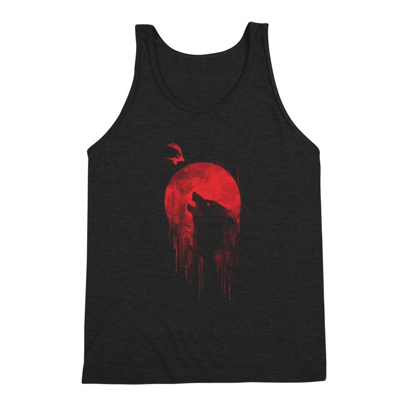Wolf Slayer Men's Triblend Tank by Steven Toang