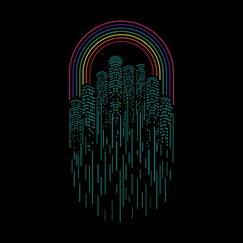 Neon City Kids T-Shirt by Steven Toang