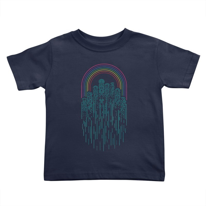 Neon City Kids Toddler T-Shirt by Steven Toang
