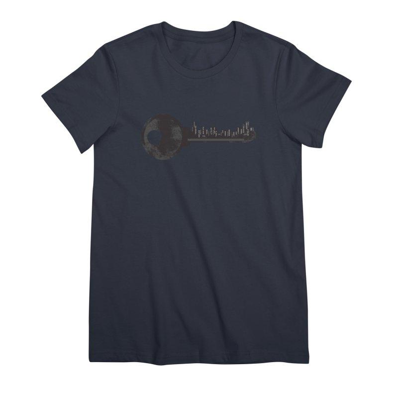 City Key Women's Premium T-Shirt by Steven Toang