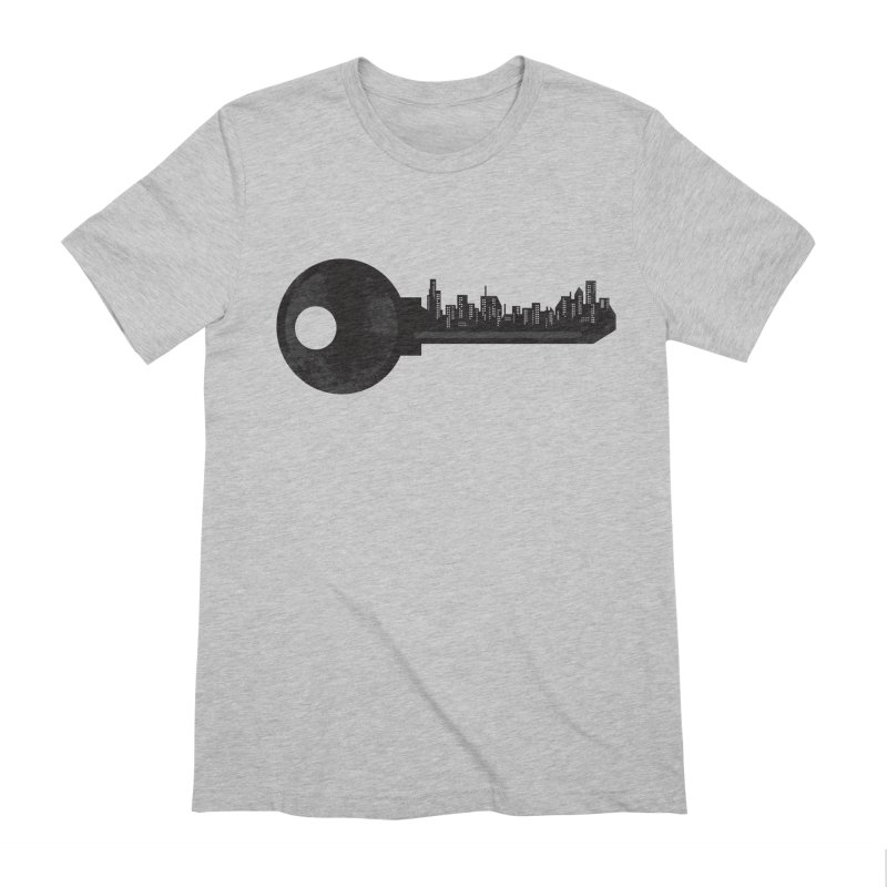 City Key Men's Extra Soft T-Shirt by Steven Toang