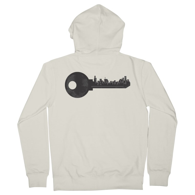 City Key Men's French Terry Zip-Up Hoody by Steven Toang