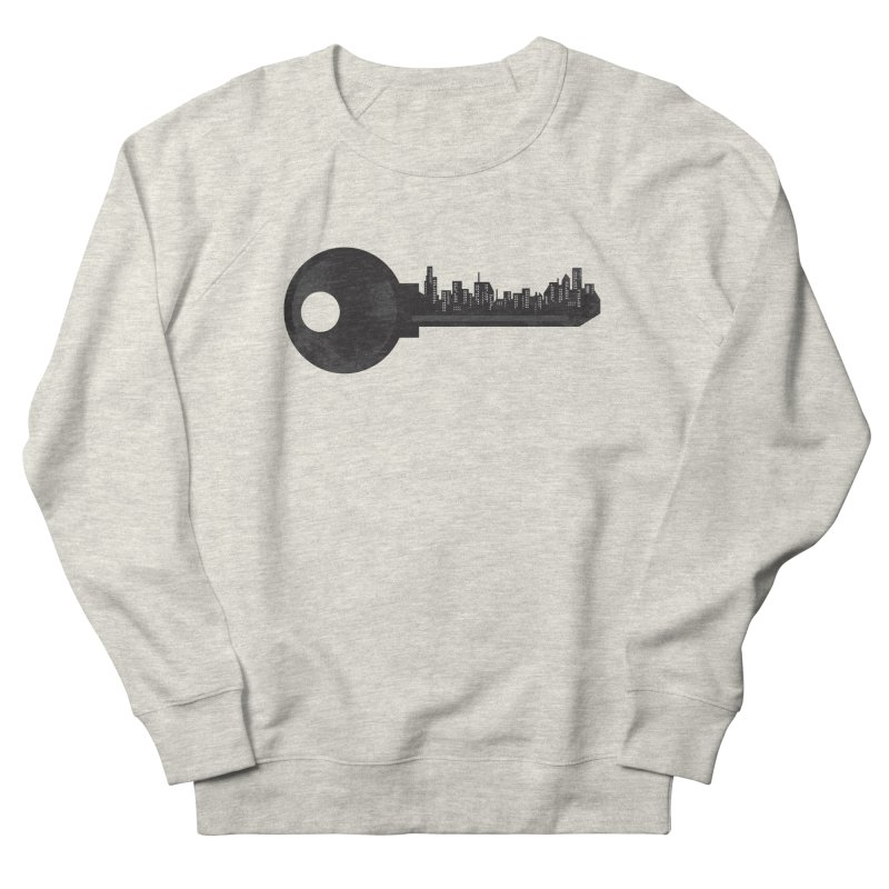 City Key Men's French Terry Sweatshirt by Steven Toang
