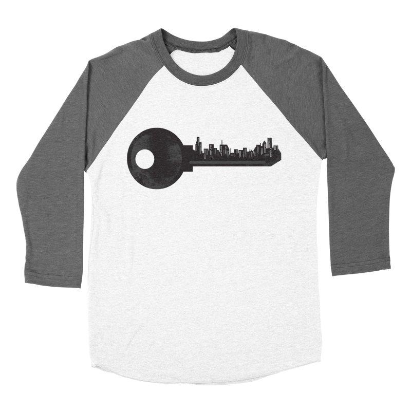 City Key Men's Baseball Triblend Longsleeve T-Shirt by Steven Toang