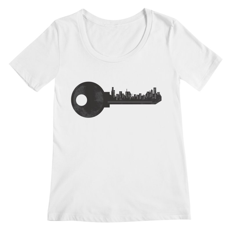 City Key Women's Regular Scoop Neck by Steven Toang