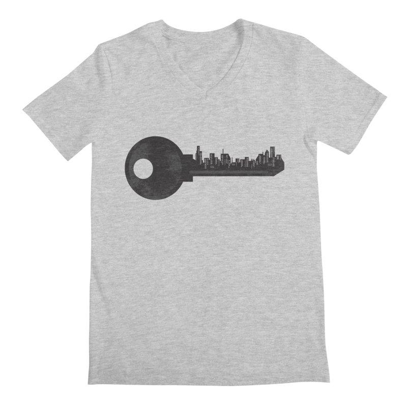 City Key Men's Regular V-Neck by Steven Toang