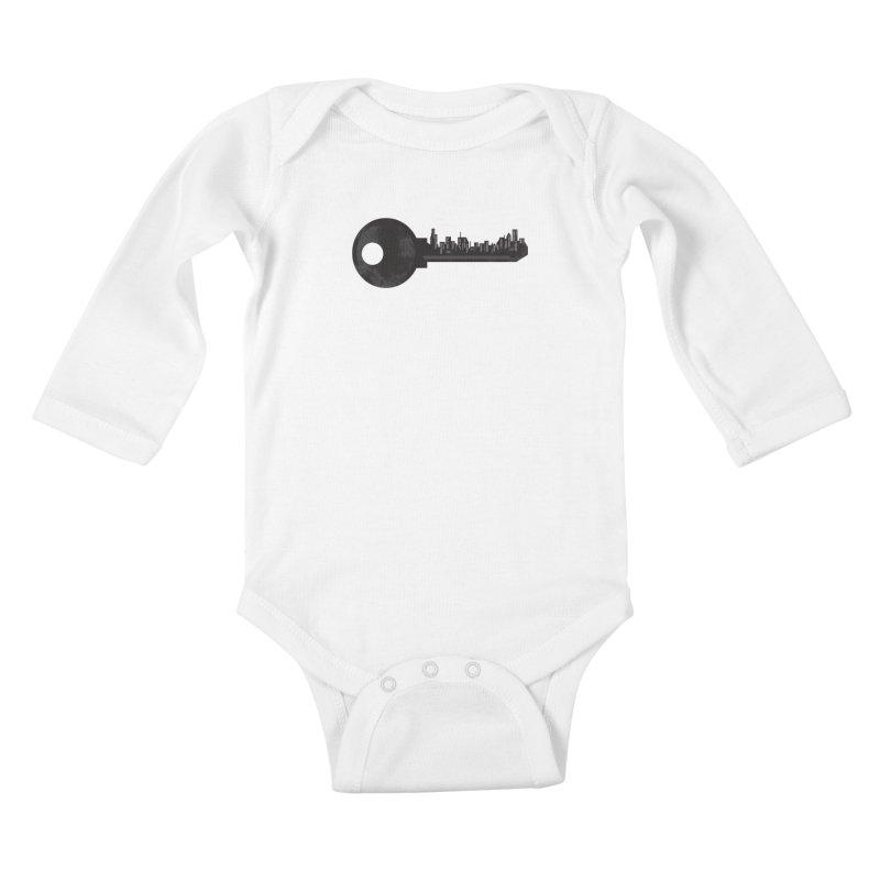 City Key Kids Baby Longsleeve Bodysuit by Steven Toang