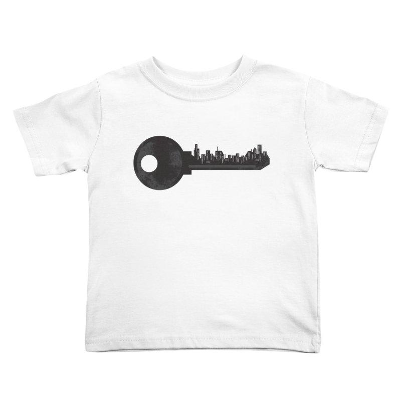 City Key Kids Toddler T-Shirt by Steven Toang