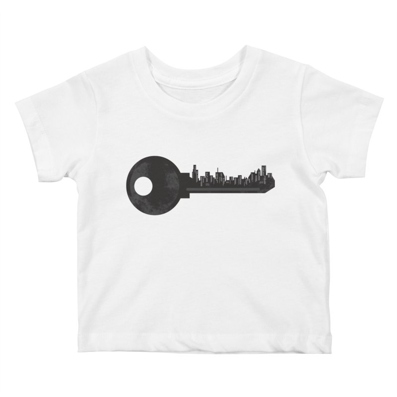 City Key Kids Baby T-Shirt by Steven Toang