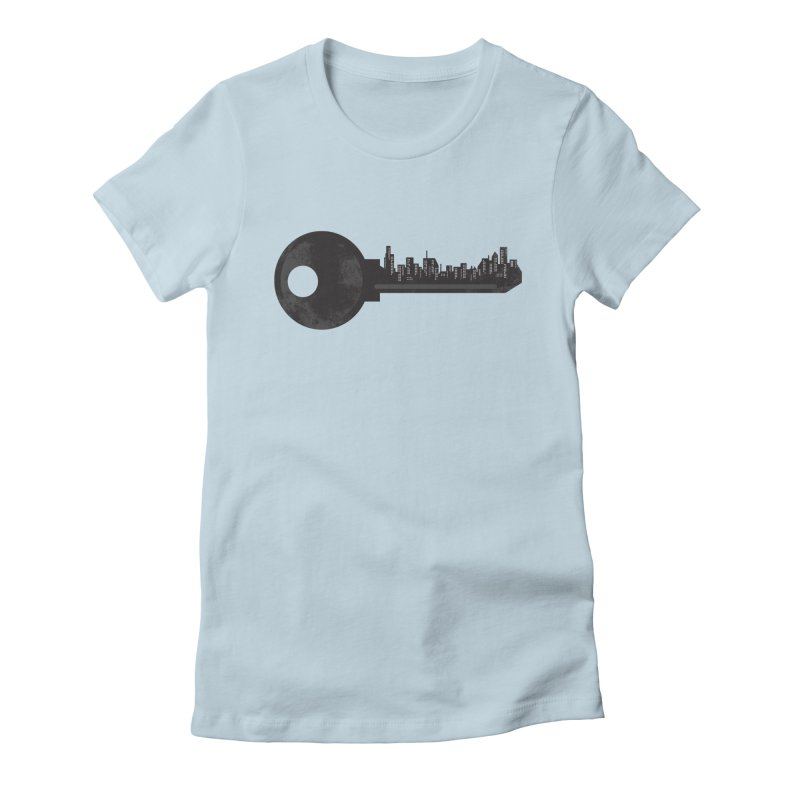 City Key Women's Fitted T-Shirt by Steven Toang