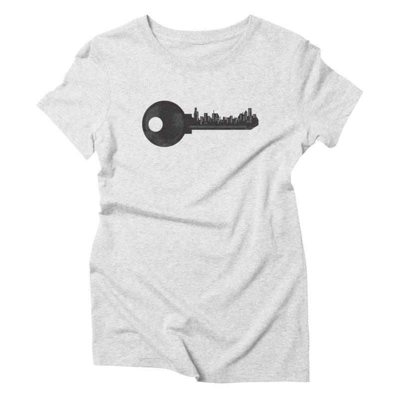 City Key Women's Triblend T-Shirt by Steven Toang