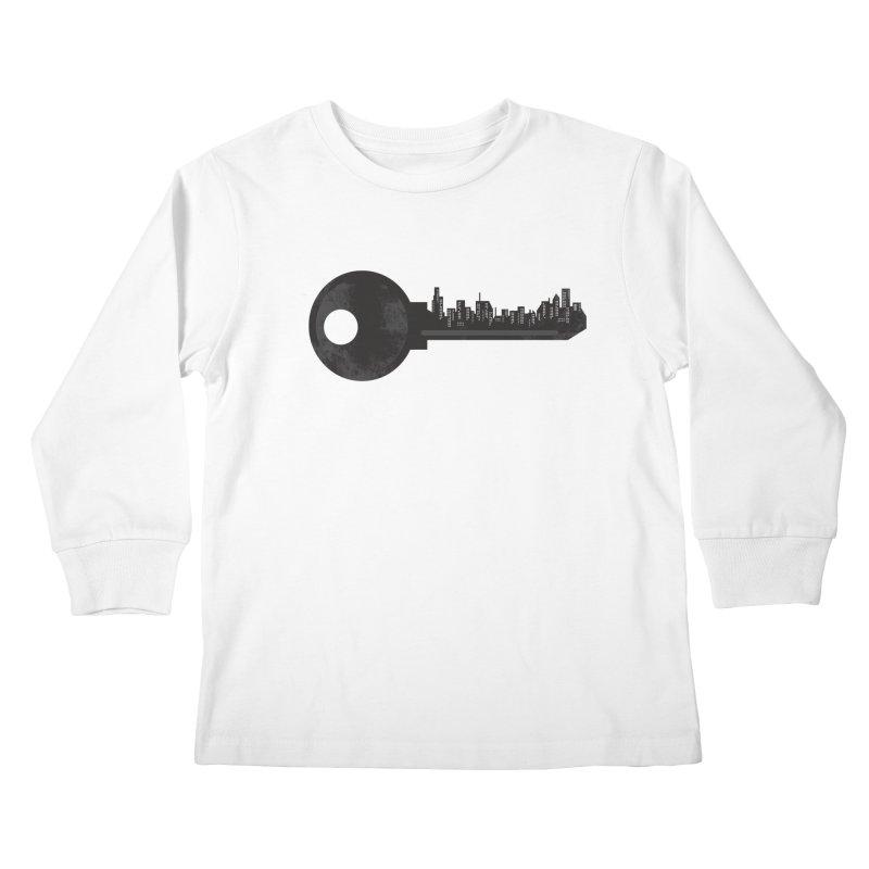 City Key Kids Longsleeve T-Shirt by Steven Toang