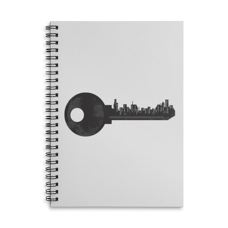 City Key Accessories Lined Spiral Notebook by Steven Toang