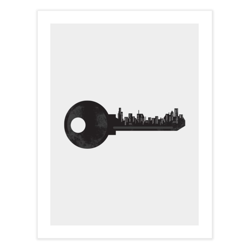 City Key Home Fine Art Print by Steven Toang