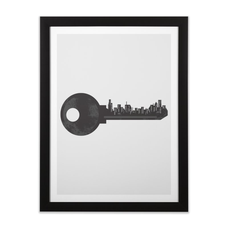 City Key Home Framed Fine Art Print by Steven Toang