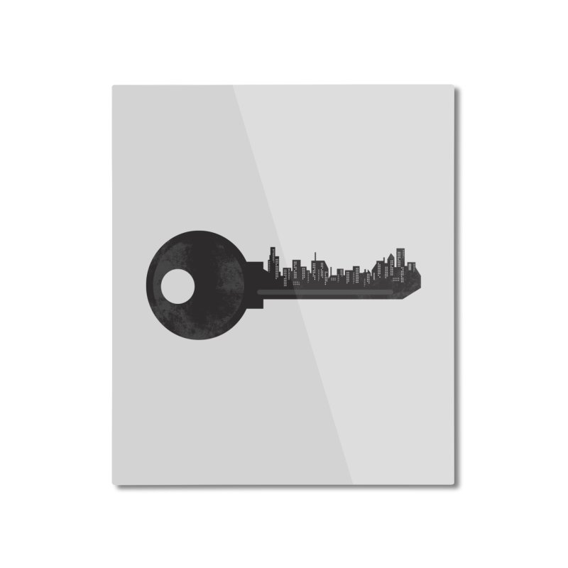 City Key Home Mounted Aluminum Print by Steven Toang