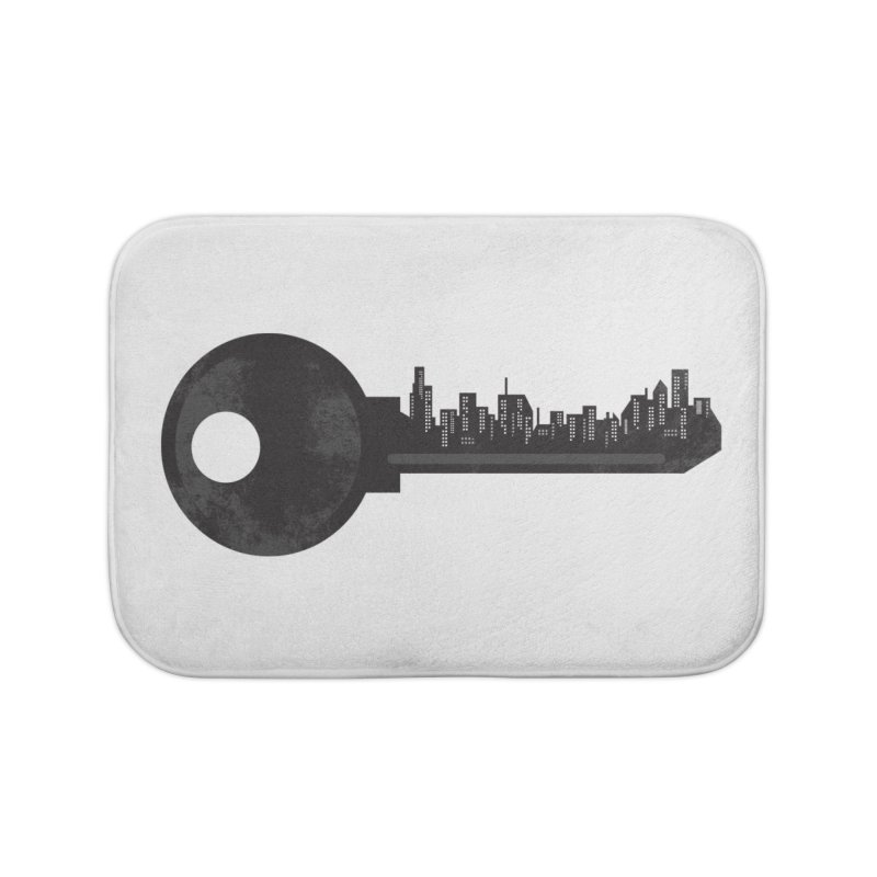 City Key Home Bath Mat by Steven Toang