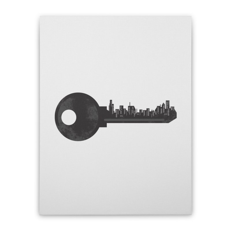 City Key Home Stretched Canvas by Steven Toang
