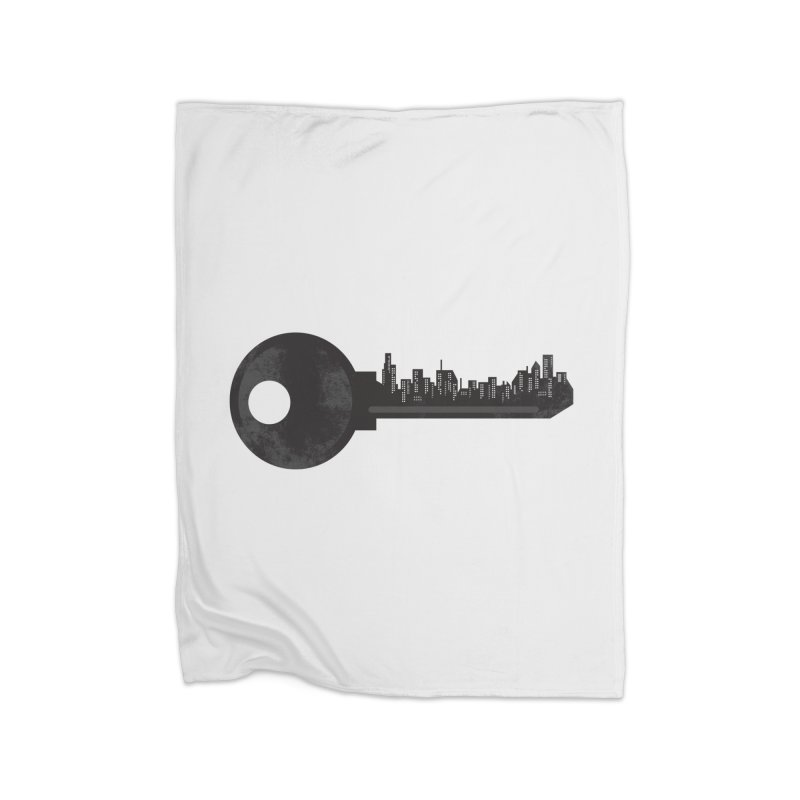 City Key Home Fleece Blanket Blanket by Steven Toang