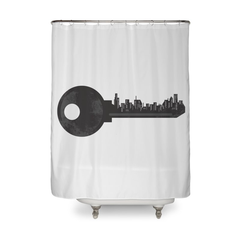 City Key Home Shower Curtain by Steven Toang
