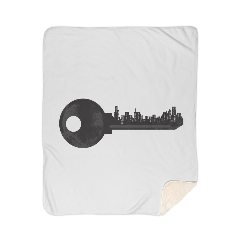 City Key Home Sherpa Blanket Blanket by Steven Toang