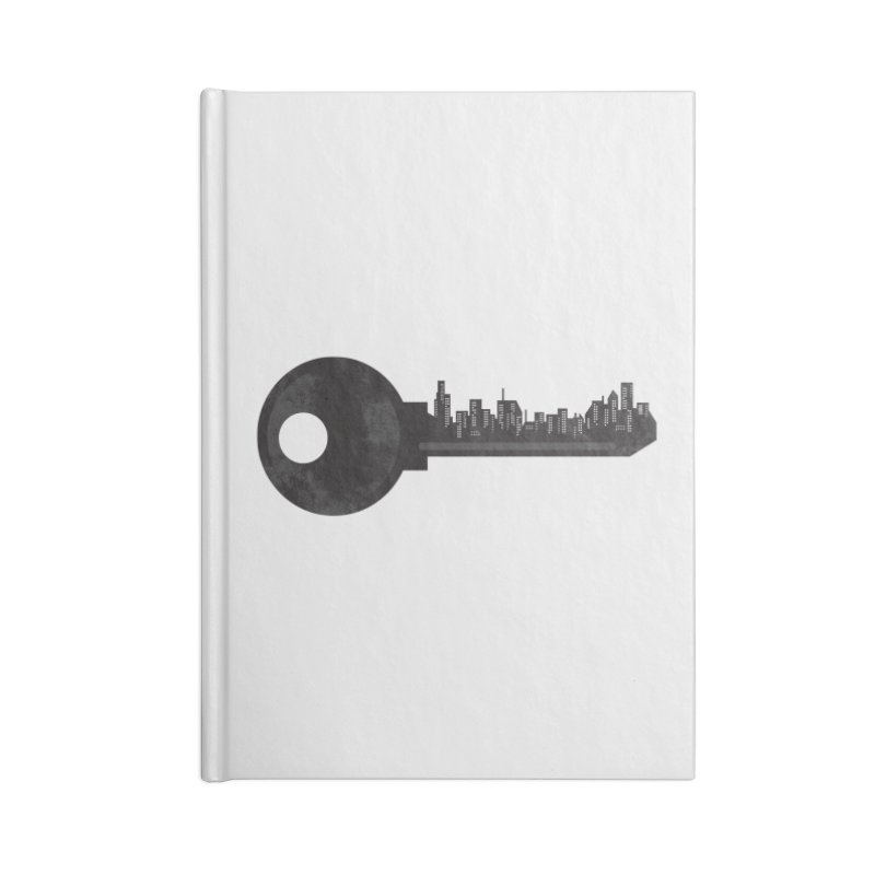 City Key Accessories Lined Journal Notebook by Steven Toang