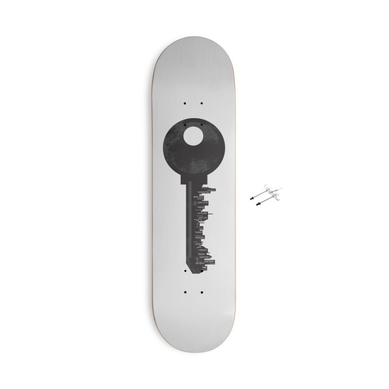 City Key Accessories With Hanging Hardware Skateboard by Steven Toang