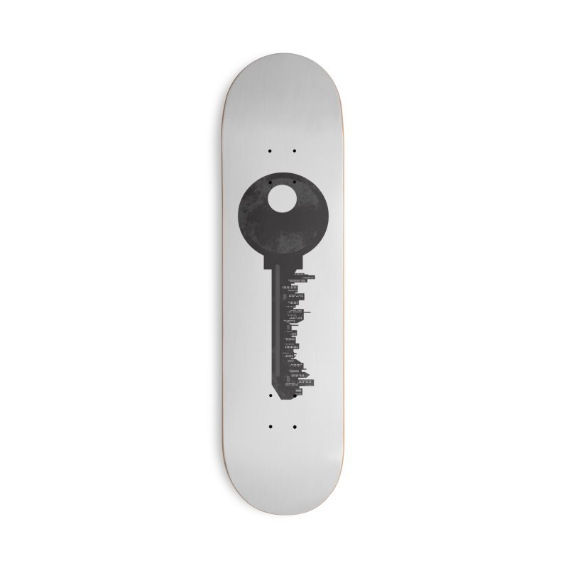 City Key Accessories Deck Only Skateboard by Steven Toang