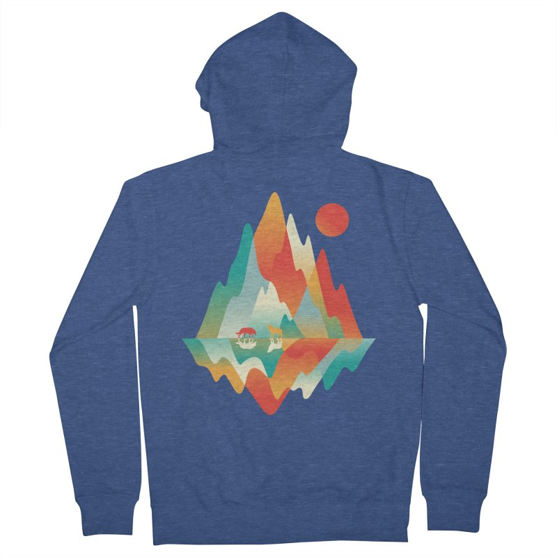 Color in the wild Women's French Terry Zip-Up Hoody by Steven Toang