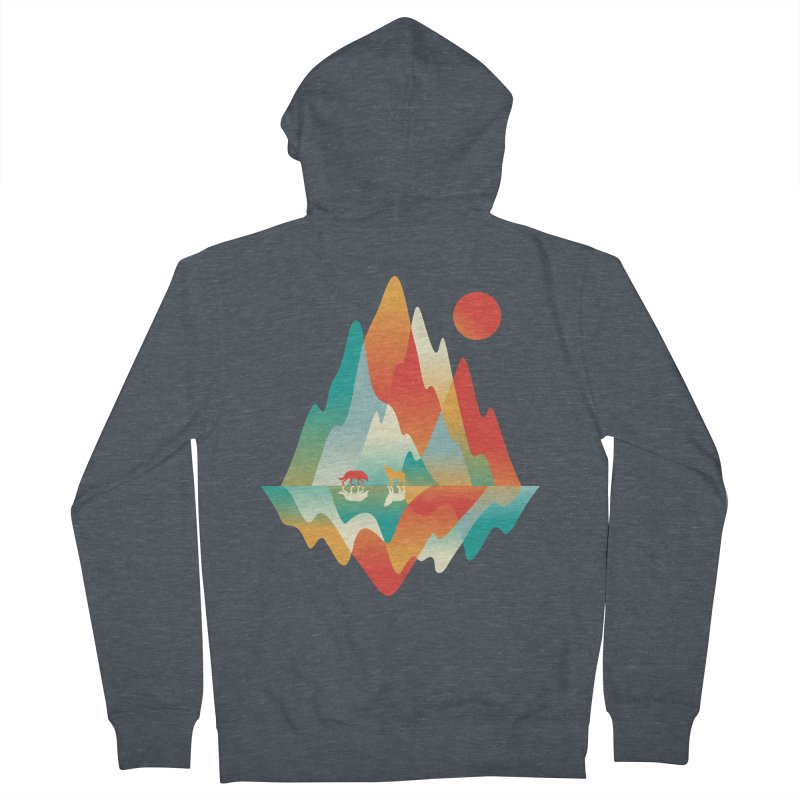 Color in the wild Men's French Terry Zip-Up Hoody by Steven Toang