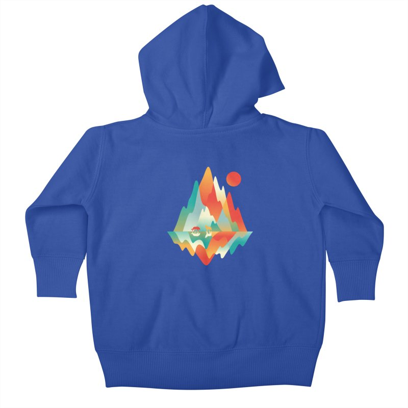 Color in the wild Kids Baby Zip-Up Hoody by Steven Toang