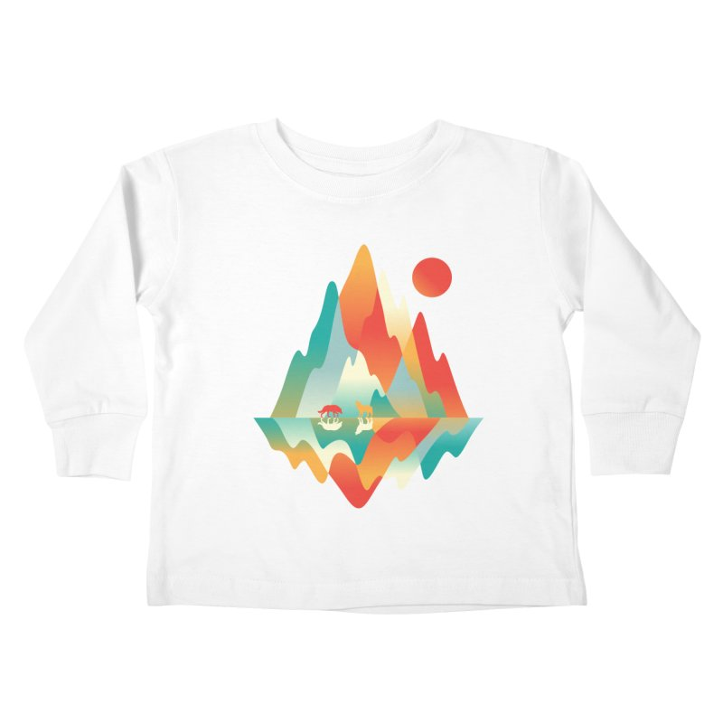 Color in the wild Kids Toddler Longsleeve T-Shirt by Steven Toang