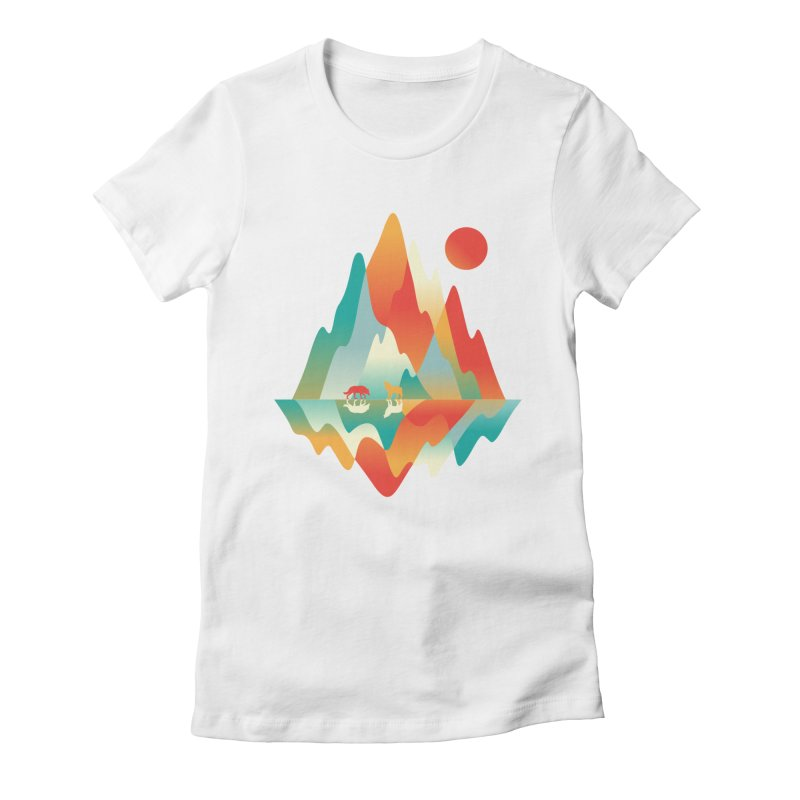 Color in the wild Women's Fitted T-Shirt by Steven Toang