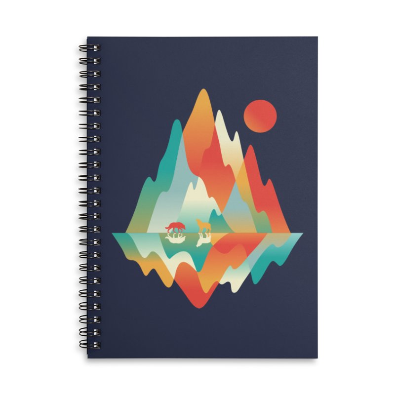 Color in the wild Accessories Lined Spiral Notebook by Steven Toang