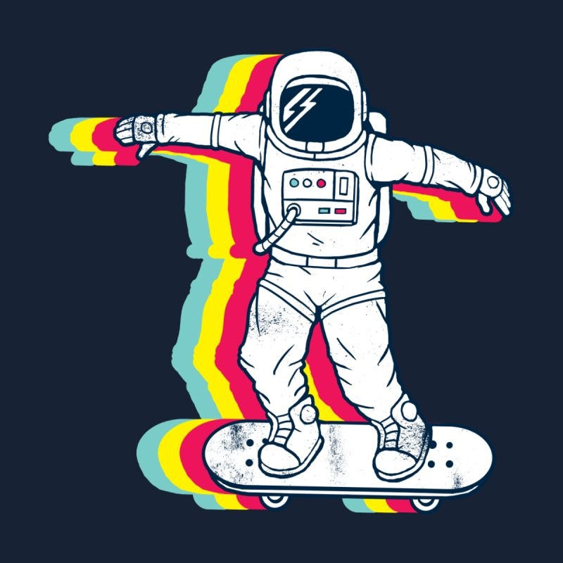 Spaceboarding Home Duvet by Steven Toang