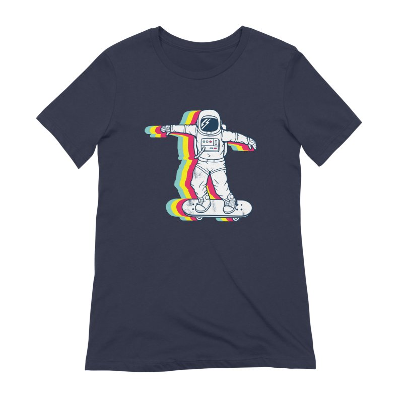 Spaceboarding Women's Extra Soft T-Shirt by Steven Toang