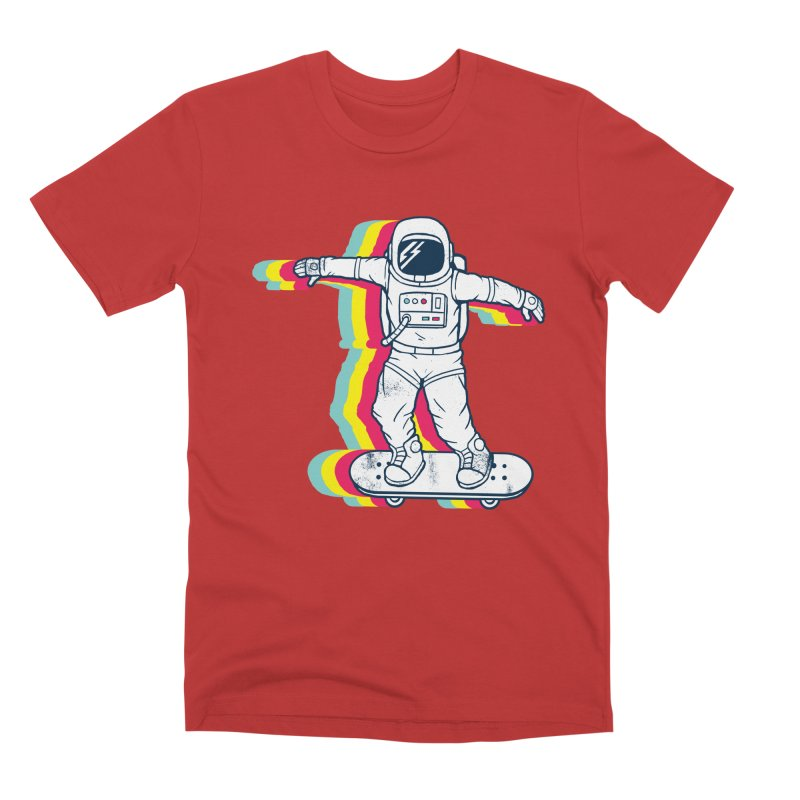 Spaceboarding Men's T-Shirt by Steven Toang