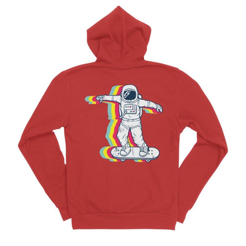 Spaceboarding Men's Zip-Up Hoody by Steven Toang