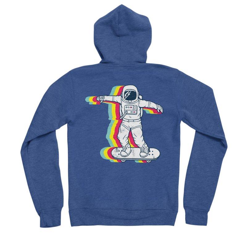 Spaceboarding Men's Sponge Fleece Zip-Up Hoody by Steven Toang