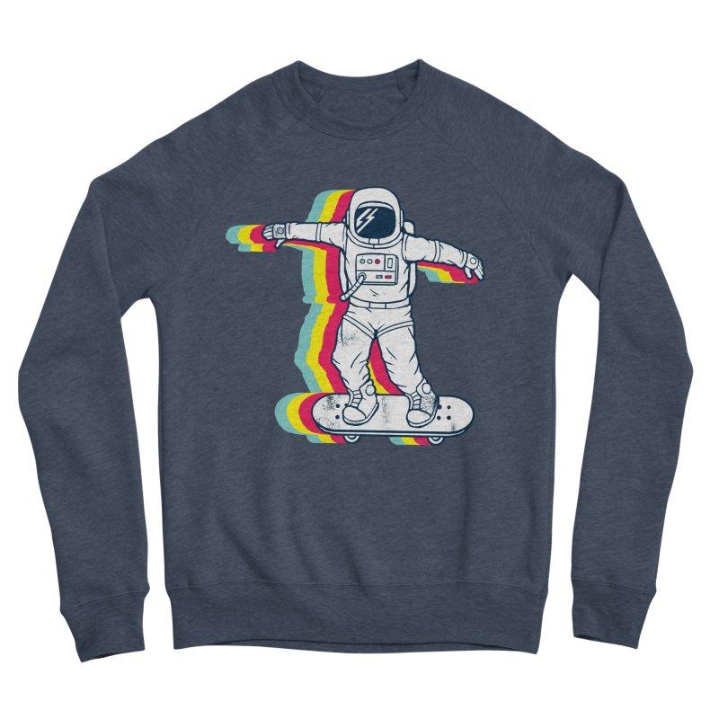 Spaceboarding Women's Sponge Fleece Sweatshirt by Steven Toang