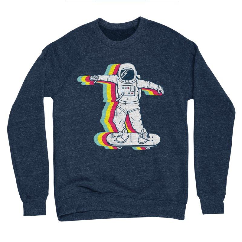 Spaceboarding Men's Sponge Fleece Sweatshirt by Steven Toang