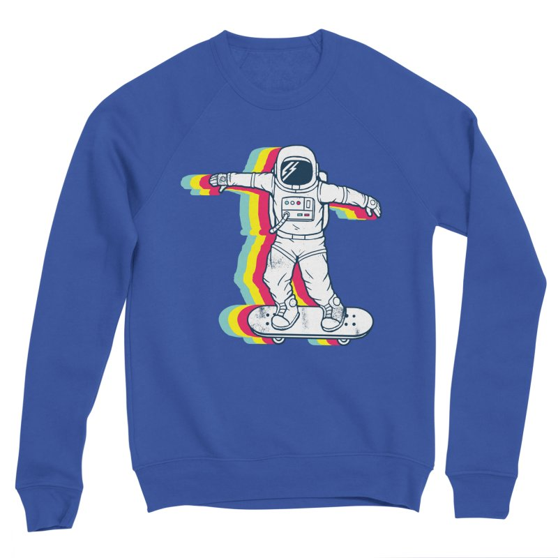 Spaceboarding Women's Sponge Fleece Sweatshirt by Steven Toang