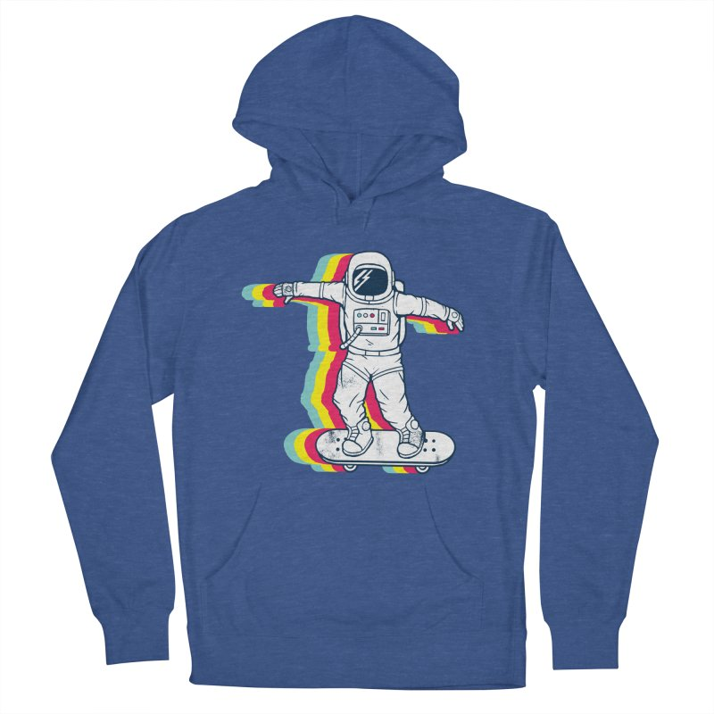Spaceboarding Women's French Terry Pullover Hoody by Steven Toang