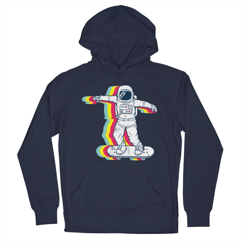 Spaceboarding Men's French Terry Pullover Hoody by Steven Toang