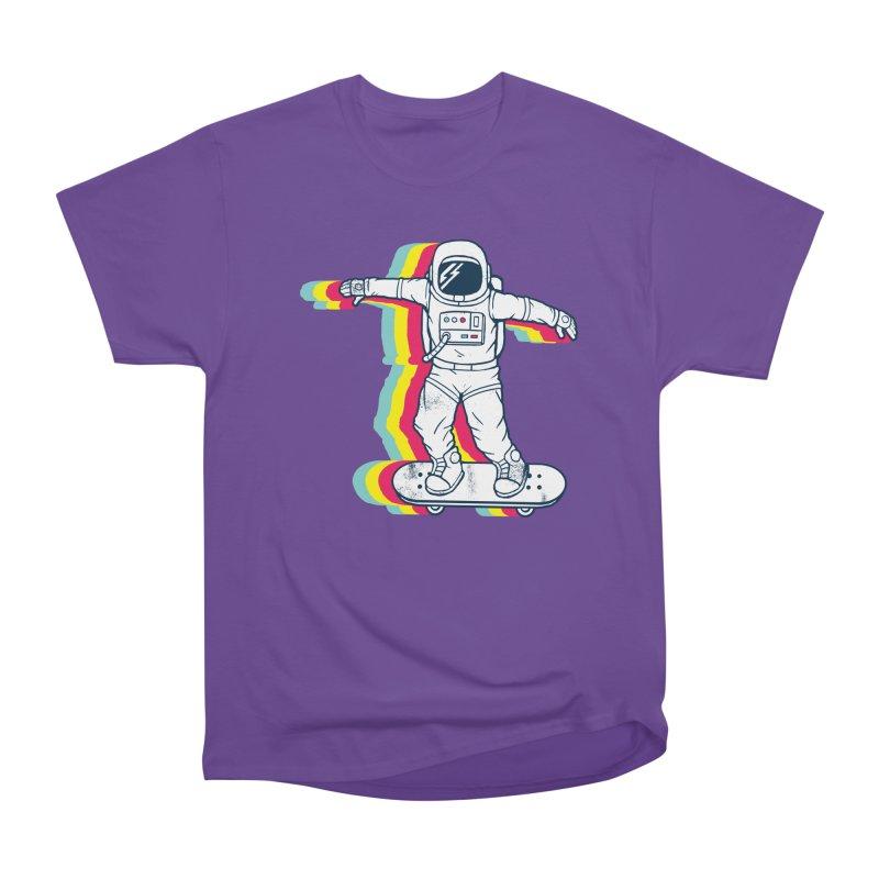 Spaceboarding Women's Heavyweight Unisex T-Shirt by Steven Toang
